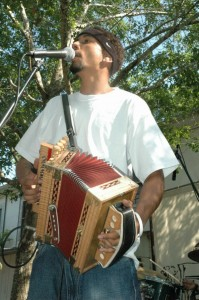 Cedryl Ballou and the Zydeco Trendsetters provide the live music At the Roots Music Series July 30