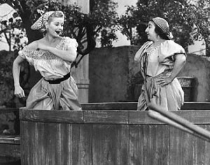 Lucille Ball Stomping Grapes