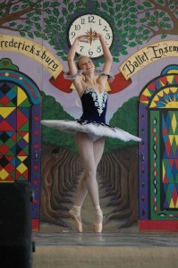 a dancer from the Fredericksburg Youth Ballet