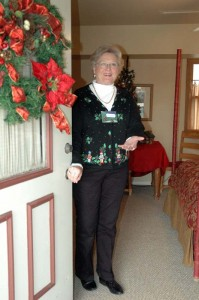 A docent at the 2009 Tour of Homes