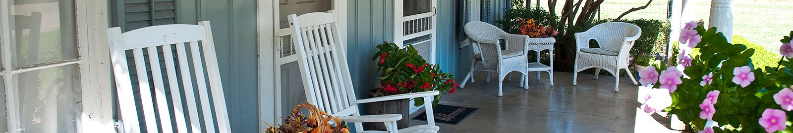 Porch on a Vacation Rental
