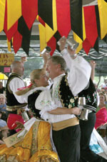 Dancers perform at Oktoberfest in Fredericksburg