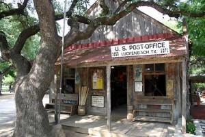 The Luckenbach post office and general store